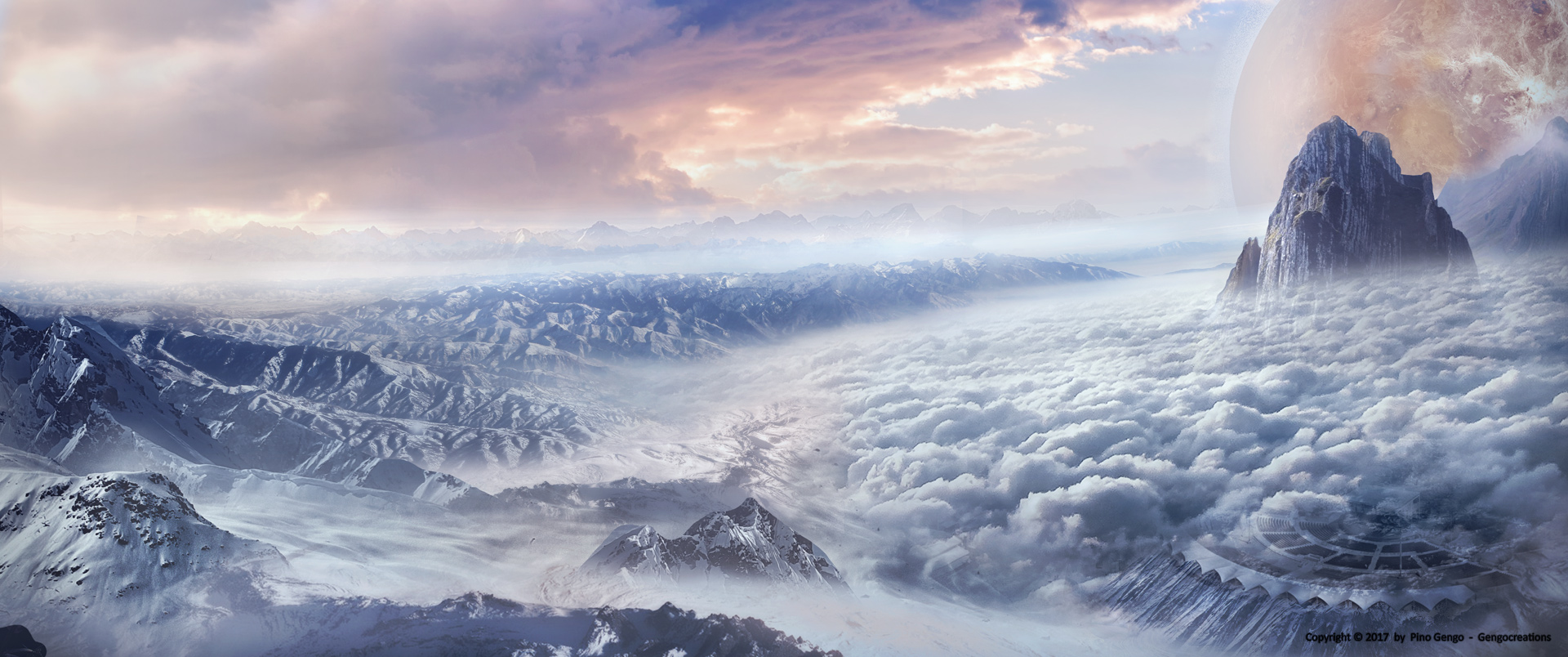 Pino Gengo: Sky Landscape - Matte Painting