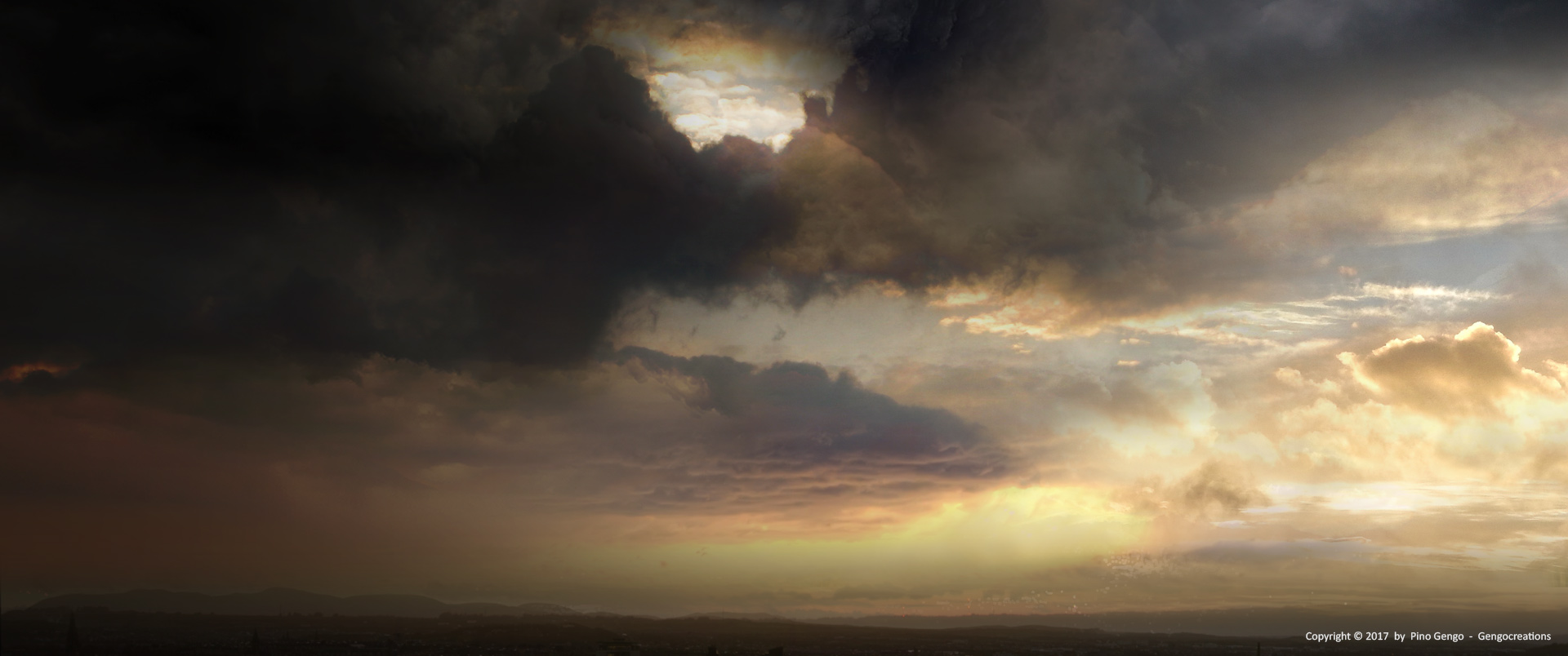 Pino Gengo: Sunset - Matte Painting